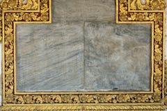 Golden religious frame Stock Images