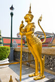 Golden religious statue Royalty Free Stock Photography