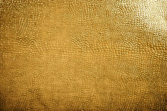 Golden reptile skin texture Stock Photography