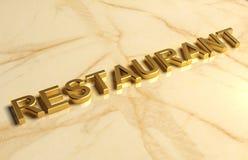 Golden restaurants sign Stock Images