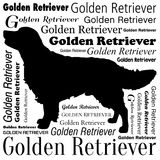 Golden Retriever Silhouette Vector. Dog Portrait isolated without Background Stock Photography