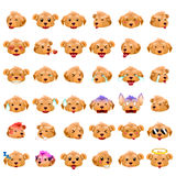 Golden Retrievers Dog Emoji Emoticon Expression Stock Photos