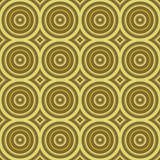 Golden retro background texture seamless tilable. Seamless tillable background texture with old-fashioned or retro look and many circles vector illustration