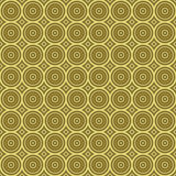 Golden retro background texture seamless tilable. Seamless tillable background texture with old-fashioned or retro look and many circles royalty free illustration