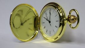 Golden retro clock stock video