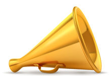 Golden retro loudspeaker Royalty Free Stock Photography
