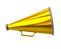 Golden retro megaphone Royalty Free Stock Photography