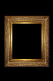 Golden retro photo frame Royalty Free Stock Photo