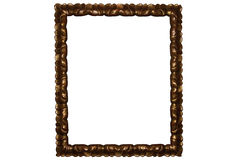 Golden retro photo frame Royalty Free Stock Photography