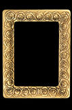 Golden retro photo frame Stock Image