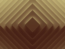 Golden rhombuses abstract background. Can. Be used for web design, wallpaper, modern design, banner and mobile application. 3D illustration Royalty Free Stock Photos