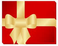 Golden ribbon Royalty Free Stock Photo