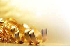 Golden ribbon Stock Image