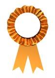 Golden ribbon. 3d illustration of golden ribbon award isolated over white background Royalty Free Stock Images