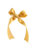 Golden ribbon. Isolated on white background Royalty Free Stock Photography