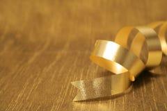 Golden ribbon Stock Photography