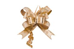 Golden Ribbon Stock Images