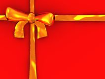 Golden ribbon Royalty Free Stock Image