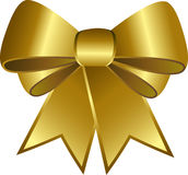 Golden ribbon. Islolated on white in vectors Royalty Free Stock Photography