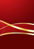 Golden Ribbon Background Stock Images