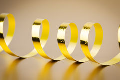 Golden ribbon Stock Photography
