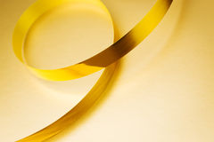 Golden ribbon Royalty Free Stock Photos