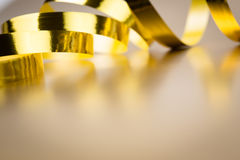 Golden ribbon Stock Photo