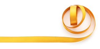 Golden ribbon border royalty free stock images