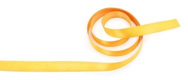 Golden ribbon border. Isolated on white background stock photography