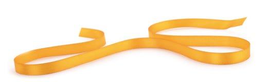 Golden ribbon border. Isolated on white background royalty free stock photos