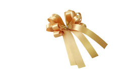 Golden ribbon and bow Royalty Free Stock Photos