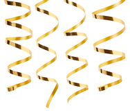 Golden ribbon collection Stock Photography