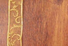 Golden ribbon copy space frame royalty free stock photos
