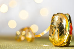 Golden ribbon Stock Photos