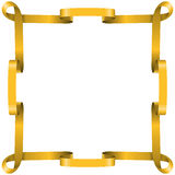 Golden ribbon frame Royalty Free Stock Photography