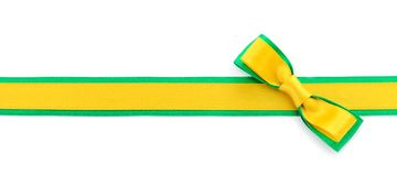 Golden and green ribbon border stock photography