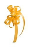 Golden ribbon isolated Stock Photos