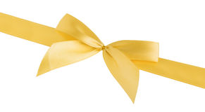 Golden ribbon isolated with clipping path Stock Photography
