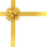 Golden ribbon isolated on white Stock Photo