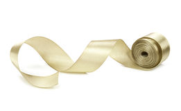 Golden ribbon isolated on white background Royalty Free Stock Image