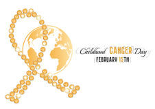 Golden ribbon from jewels with Earth globe Royalty Free Stock Photography