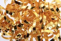 Golden ribbon texture Royalty Free Stock Image