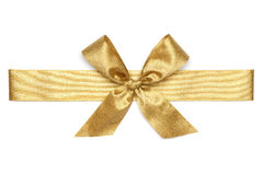 Golden Ribbon Tie Royalty Free Stock Image