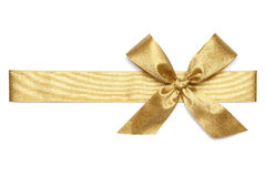 Golden Ribbon Tie Royalty Free Stock Photography