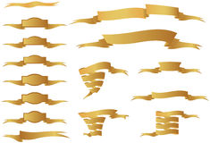 Golden Ribbons Royalty Free Stock Photos