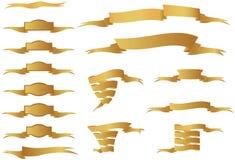 Golden Ribbons Royalty Free Stock Photos