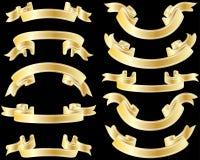 Golden ribbons Royalty Free Stock Image