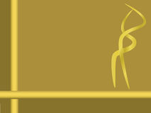 Golden ribbons background Royalty Free Stock Photography