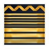 Golden ribbons set. Vector illustration. Royalty Free Stock Images