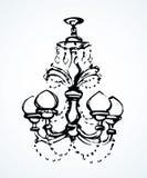 Chandelier. Vector drawing stock illustration